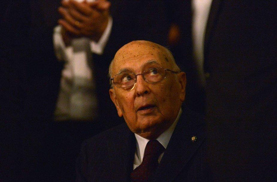Italijos prezidentas Giorgio Napolitano
