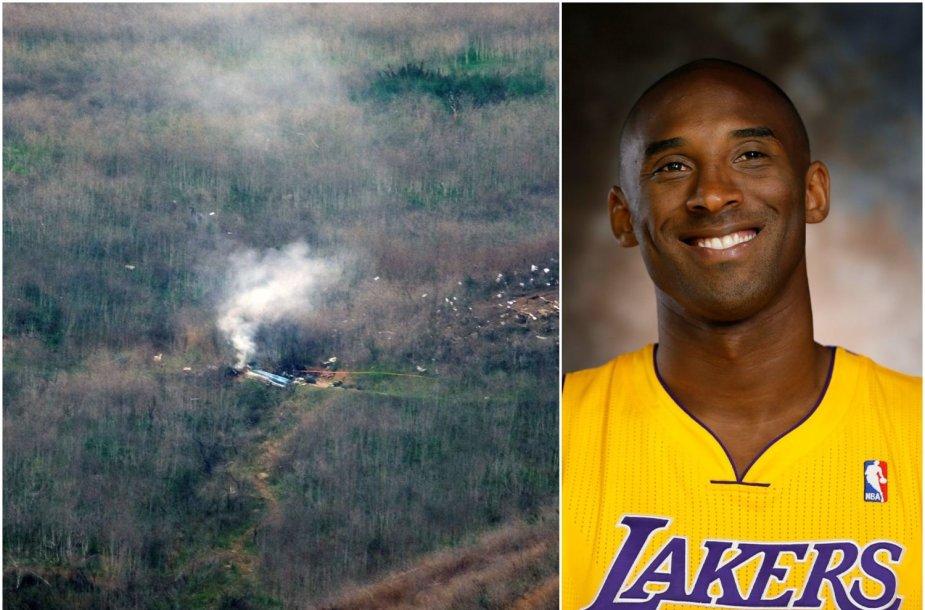 """Kobe Bryantas žuvo, dužus """"Sikorsky S-76"""" sraigtasparniui."""