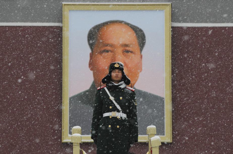 Mao Zedongo portretas Tiananmenio aikštėje