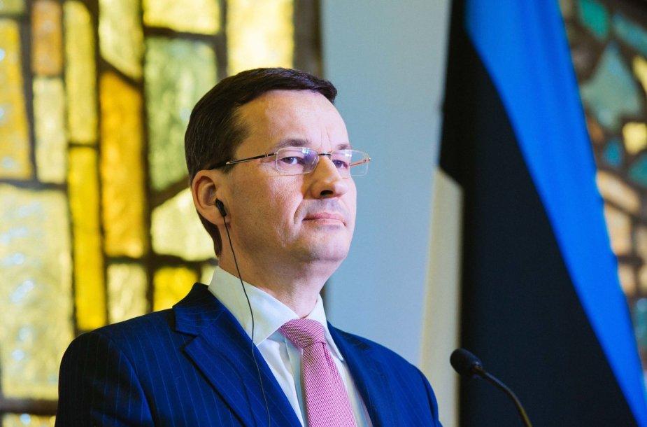 Lenkijos vyriausybės vadovas Mateuszas Morawieckis