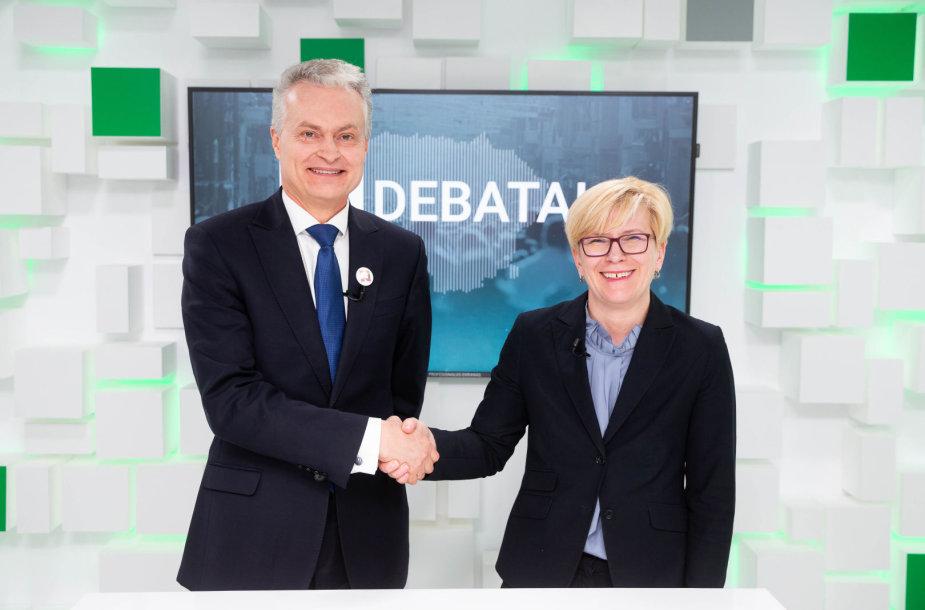 Gitanas Nausėda ir Ingrida Šimonytė