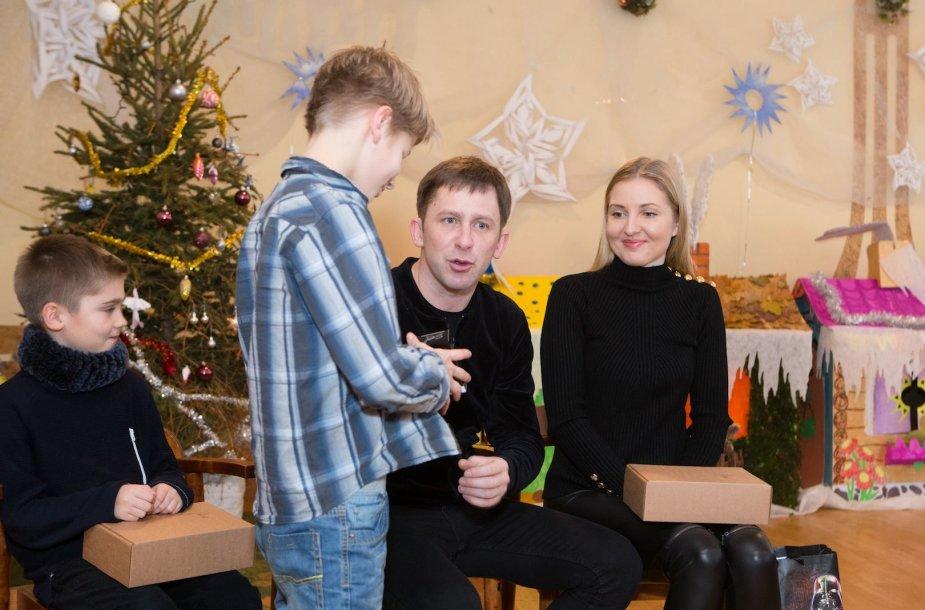 Egidijaus Dragūno apsilankymas vaikų globos namuose