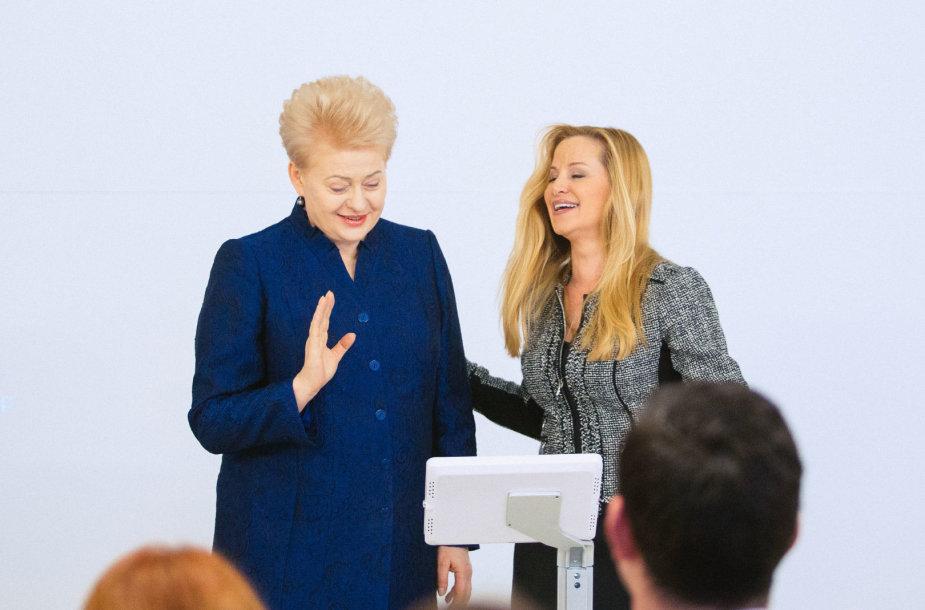 Dalia Grybauskaitė ir Emily Vacher