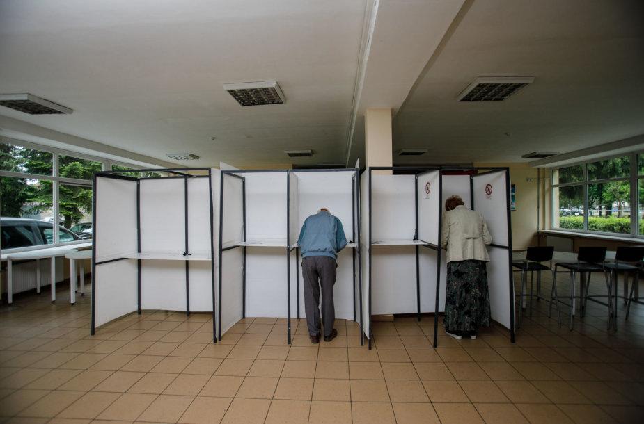 Rinkimų akimirkos