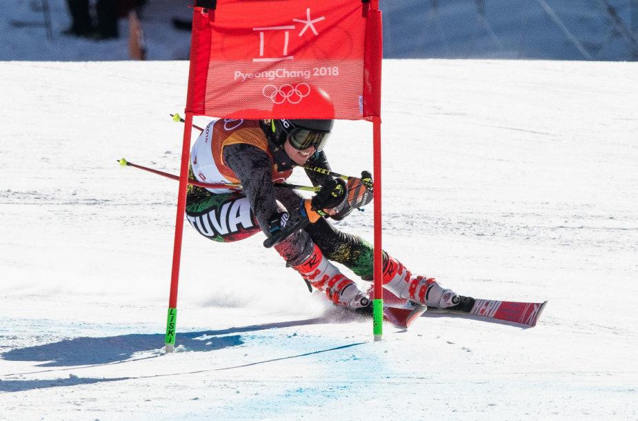 Ieva Januškevičiūtė startavo greitojo slalomo varžybose Pjongčange.