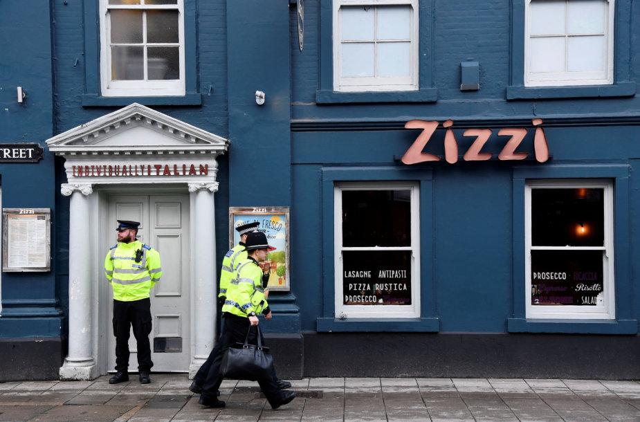"""""""Zizzi"""" restoranas, prie kurio buvo rastas sąmonę praradęs Sergejus Skripalis"""