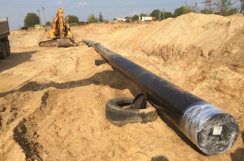 Perkeliamas dujotiekis