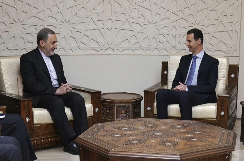 Basharo al Assado susitikimas su Ali Akbaru Velayati