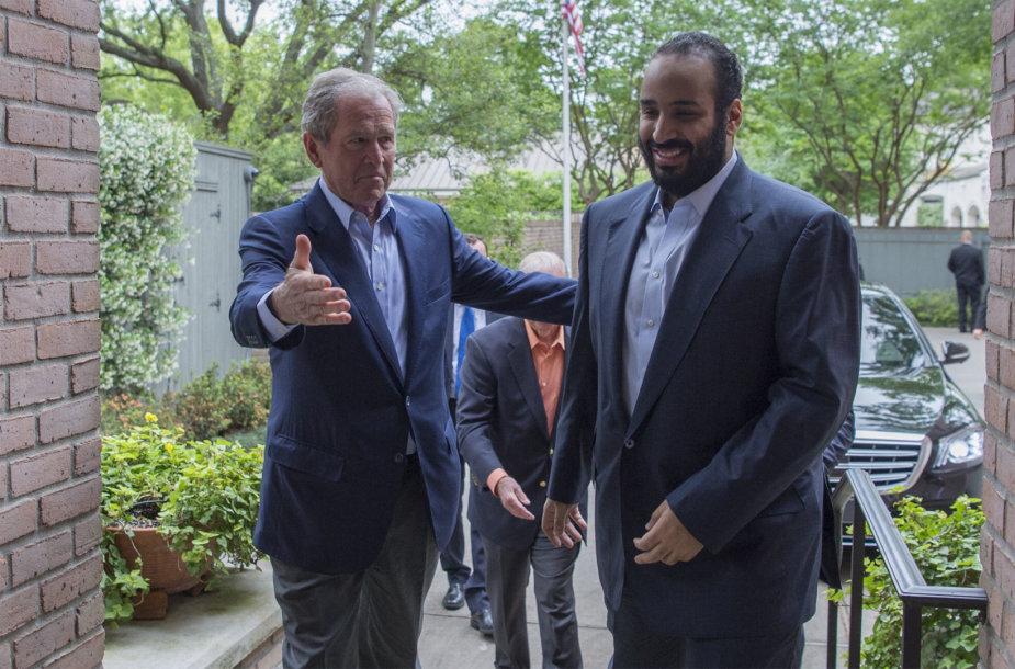 Mohammedas bin Salmanas su George'u W.Bushu