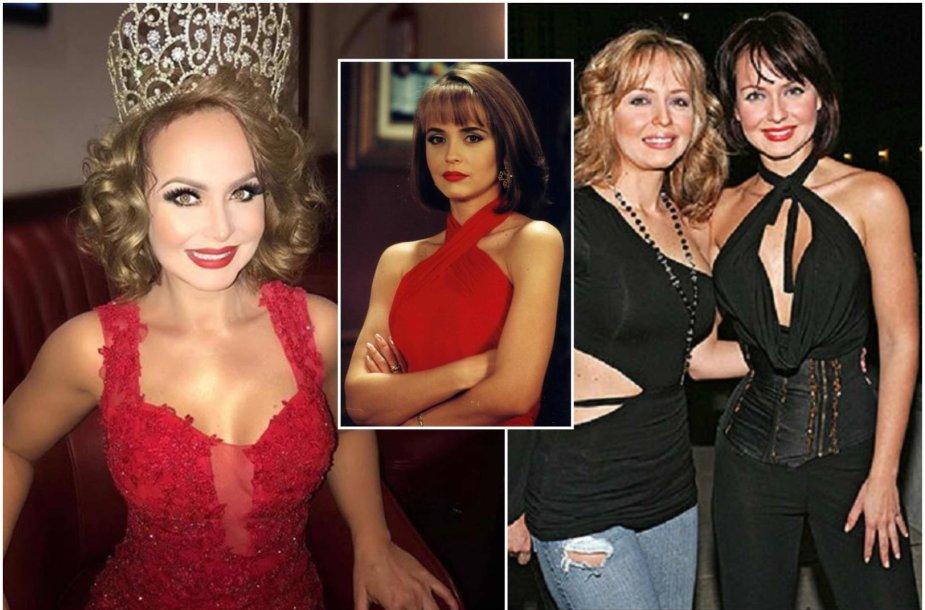 """Gabriela Spanic dabar, seriale """"Apgavystės"""" (1998) ir su seserimi dvyne Daniela"""