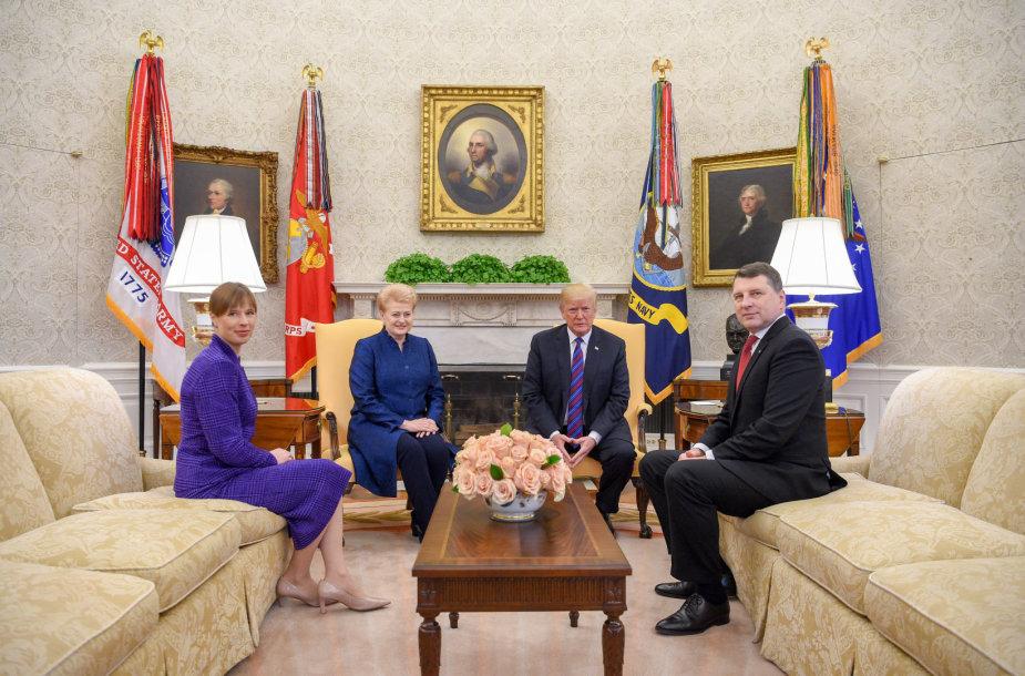 Donaldo Trumpo ir Baltijos šalių vadovų susitikimas