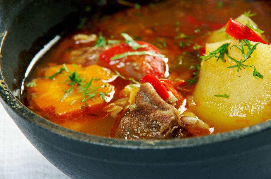 Uzbekiška sriuba – mastava
