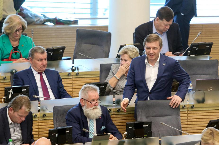 Algirdas Sysas ir Ramūnas Karbauskis
