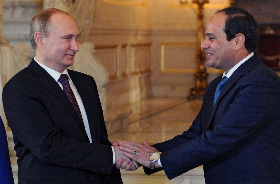 Rusijos ir Egipto vadovai