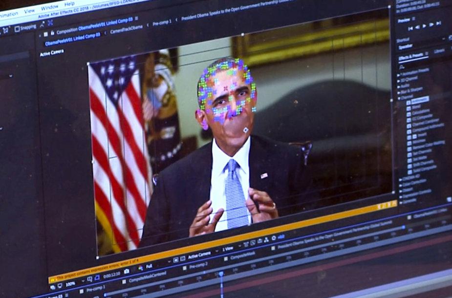 Kuriamas suklastotas B.Obamos vaizdo klipas