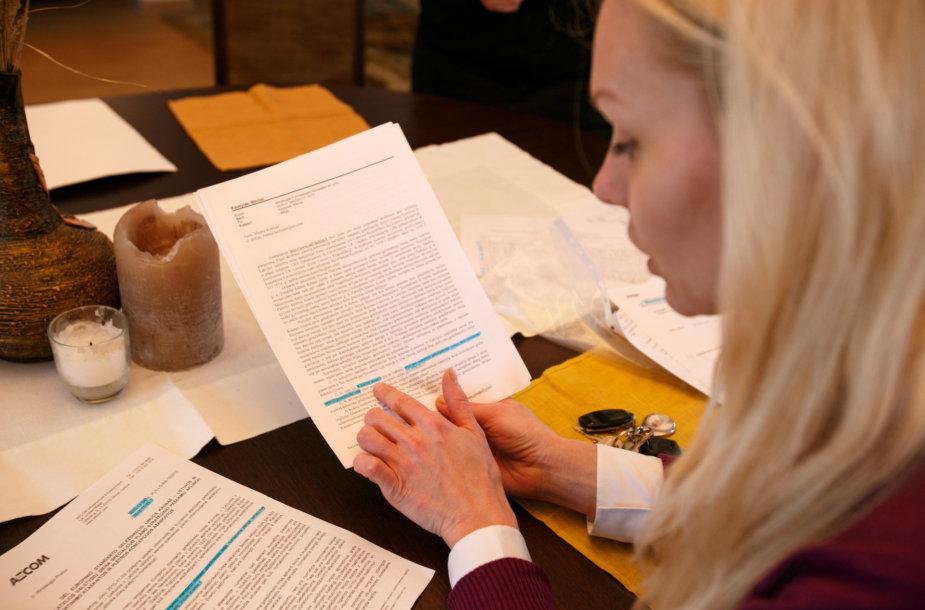 Gyventojai ruošia raštus