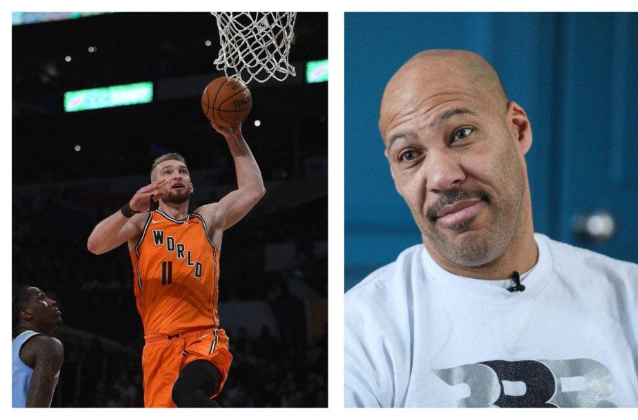 Domantas Sabonis atsakė LaVarui Ballui apie Lietuvos krepšinį.