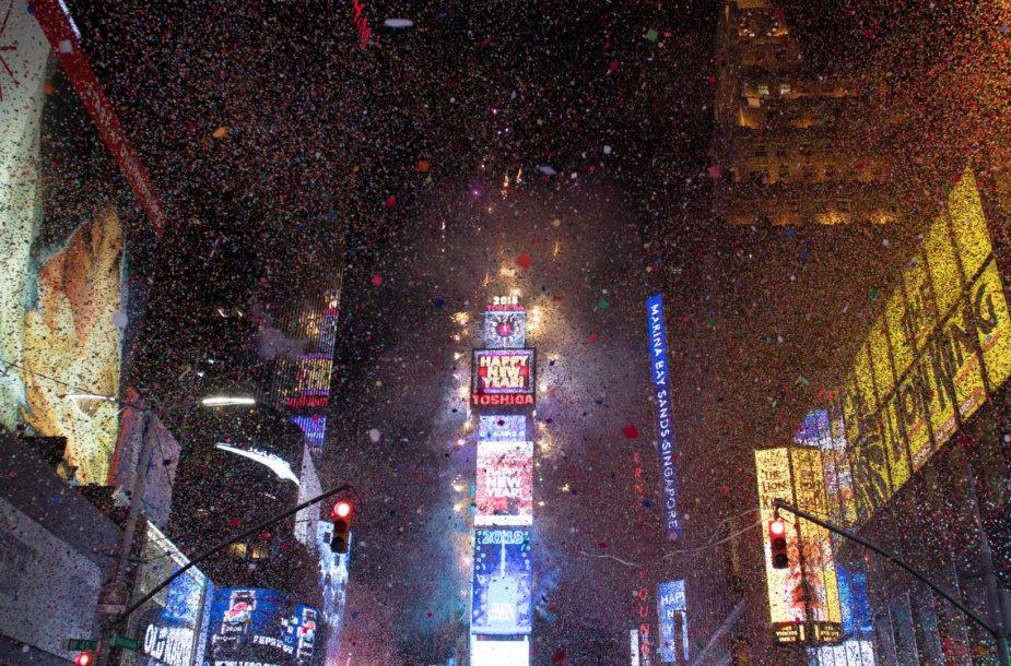 Naujųjų metų sutiktuvės Taimso aikštėje