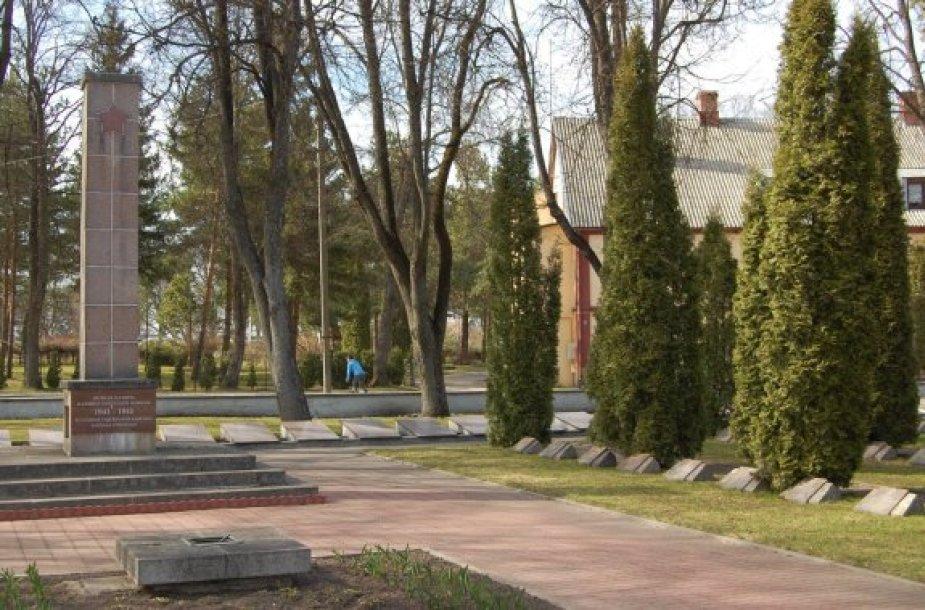 Tarybinių karių kapinės Biržuose
