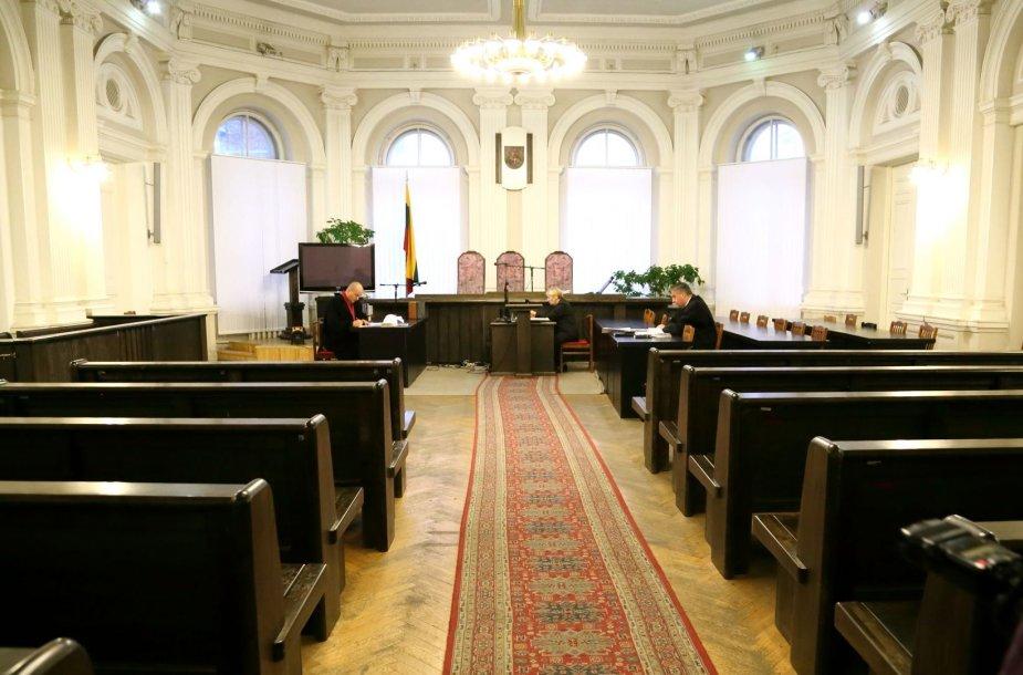 Vytauto Andriaus Kedžio byla vyko didžiojoje Vilniaus apygardos teismo salėje