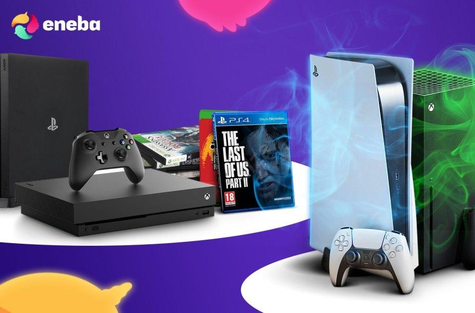 """""""Eneba"""" pristato: ekskliuzyviniai konsolių žaidimai pigiau"""