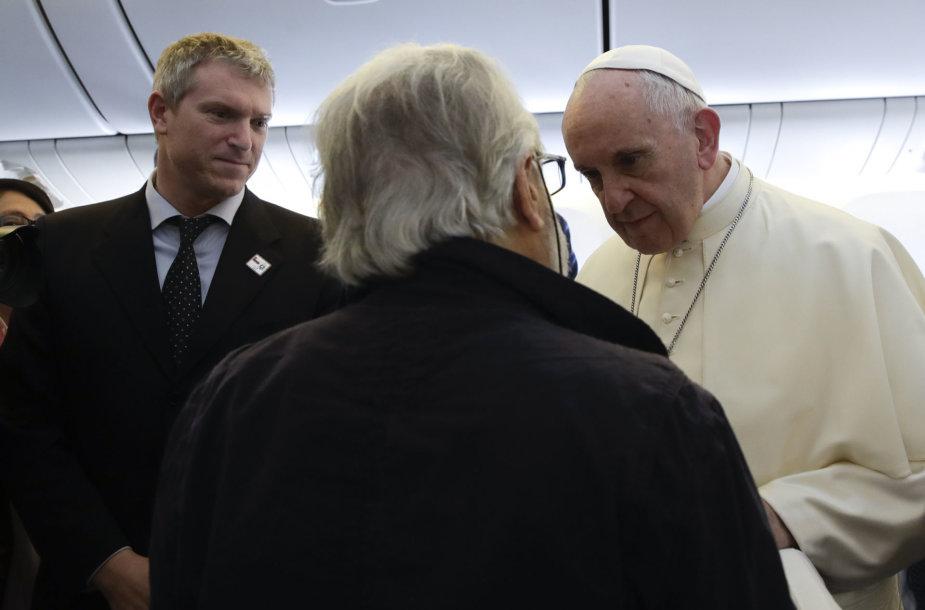 Matteo Bruni ir Popiežius Pranciškus
