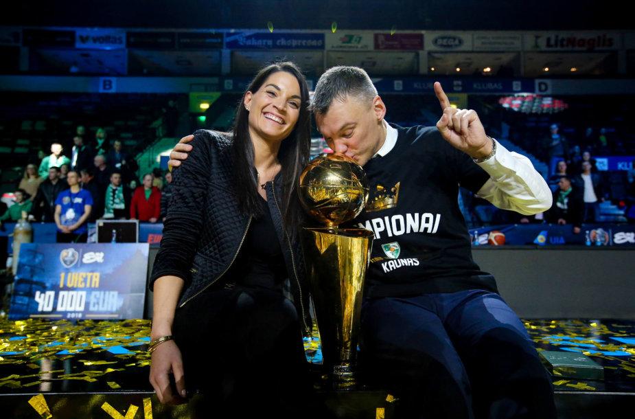 Šarūnas Jasikevičius ir Anna Douka