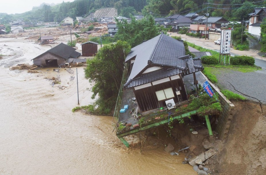 Potvynio Japonijoje padariniai