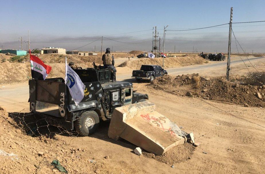 Prie Kirkuko įsiplieskė susirėmimų tarp Irako vyriausybės ir kurdų pajėgų