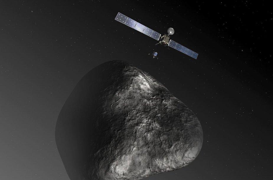 """Zondas """"Rosetta"""" prie kometos menininko akimis"""