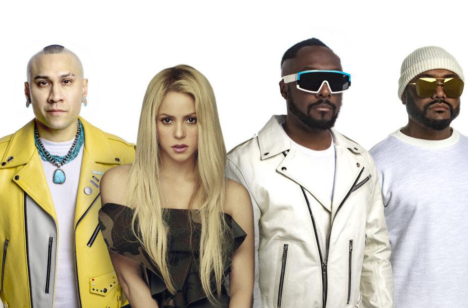 """Shakira ir """"Black Eyed Peas"""""""