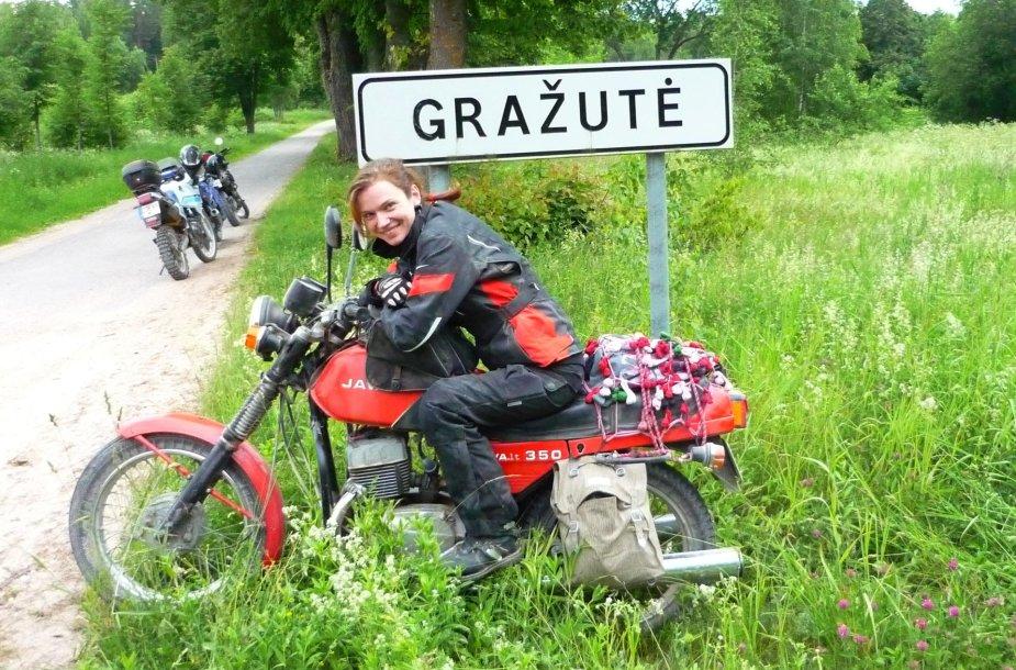 """Kelionės motociklu """"Aplink Lietuvą 2015"""" akimirka"""