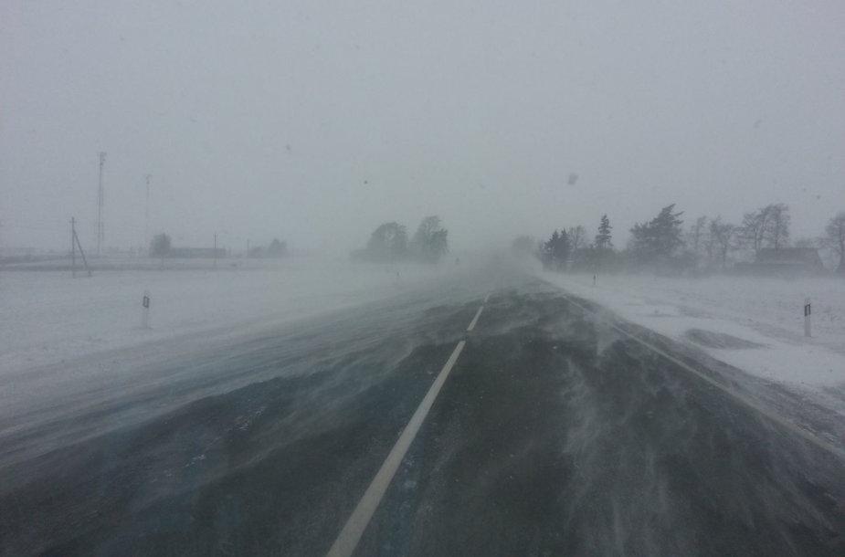 Eismo sąlygos kelyje Panevėžys-Radviliškis