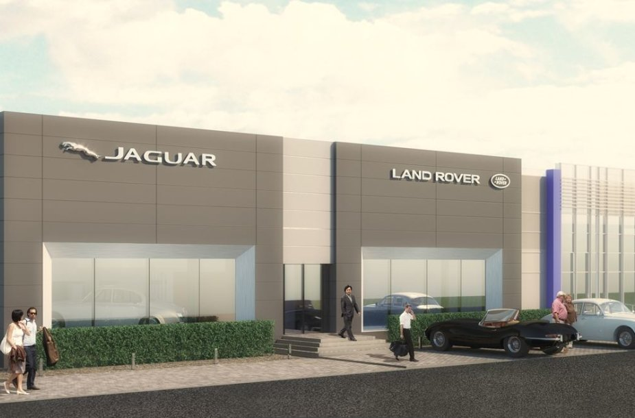 """Jaguar Land Rover"" salono maketas"