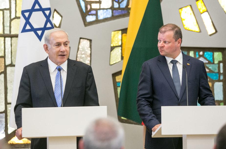 Benjaminas Netanyahu ir Saulius Skvernelis