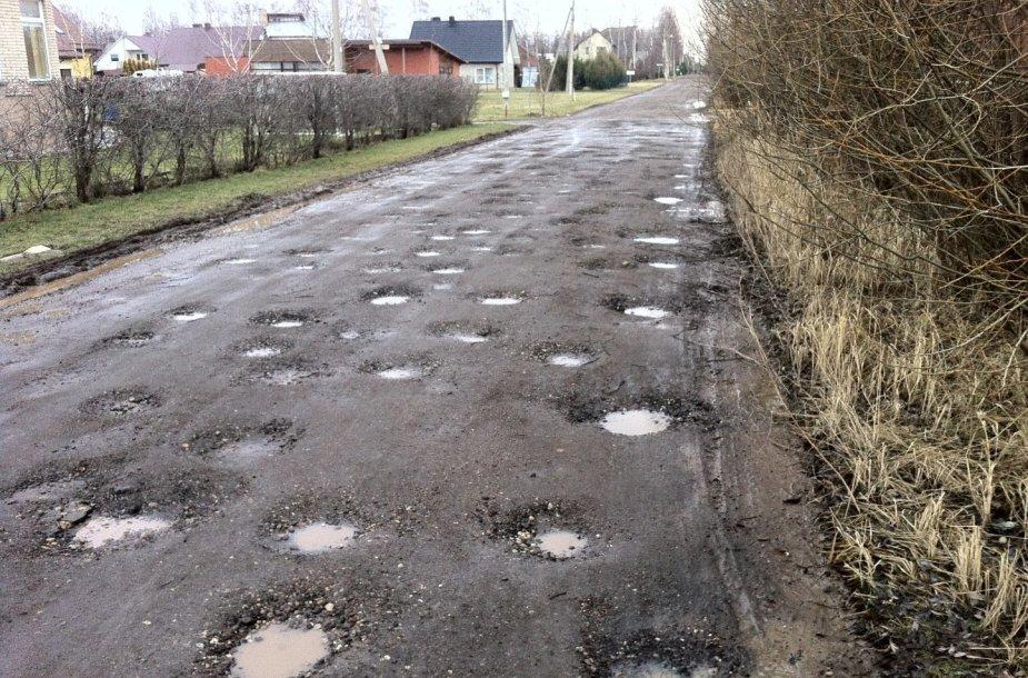 J.Petruičio gatvė atšilus orams