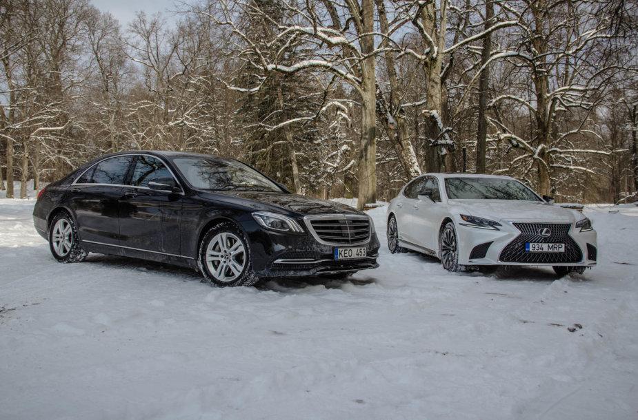 """Naujasis """"Lexus LS"""" prieš S klasės """"Mercedes-Benz"""""""