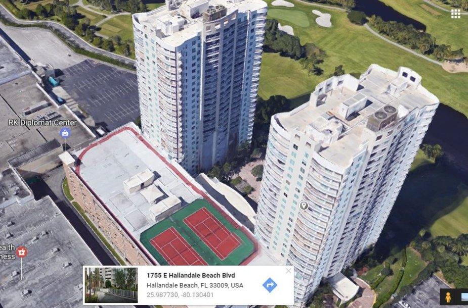 K.Brazauskienės sūnus turi prabangius apartamentus viename iš šių Majamio dangoraižių