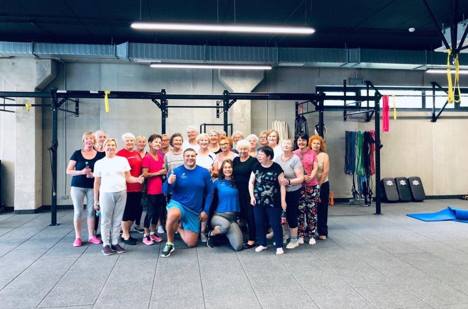 Vilniaus senjorai atranda sporto naudą