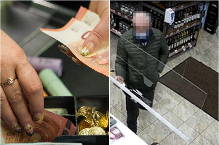 Panevėžio policija turėjo užduoti, kad nemenka pinigų suma grįžtų į parduotuvės kasą.