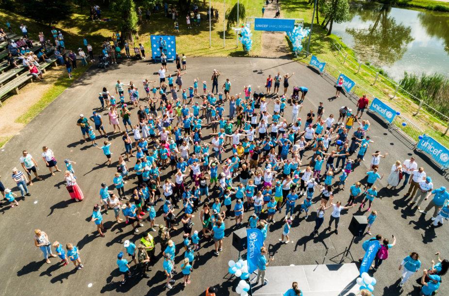UNICEF vaikų bėgimo Kretingoje akimirka
