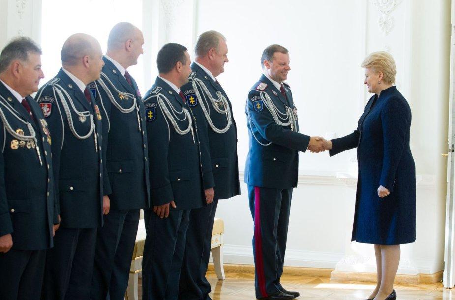 Policijos vadovai susitiko su Dalia Grybauskaite