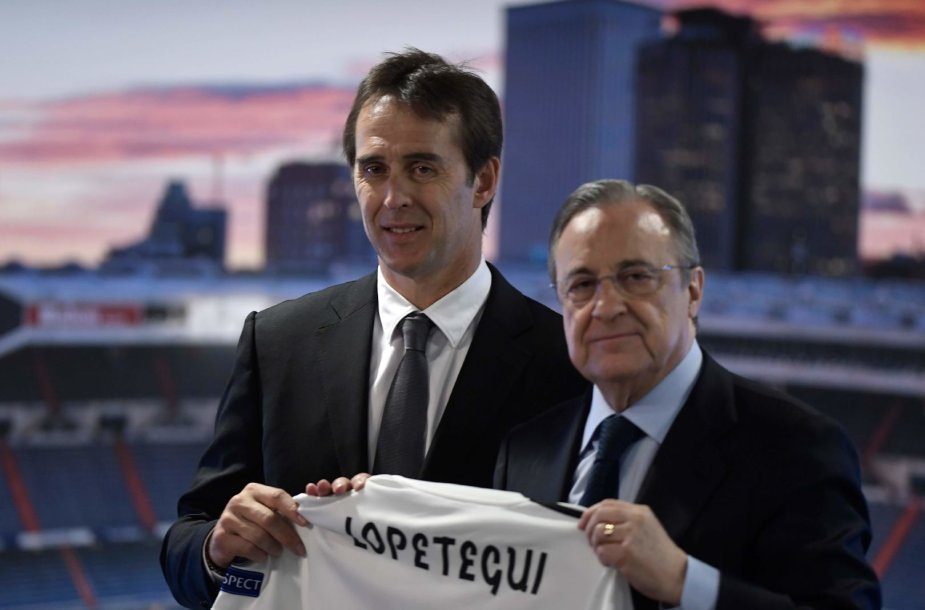 Julienas Lopetegui ir Florentino Perezas
