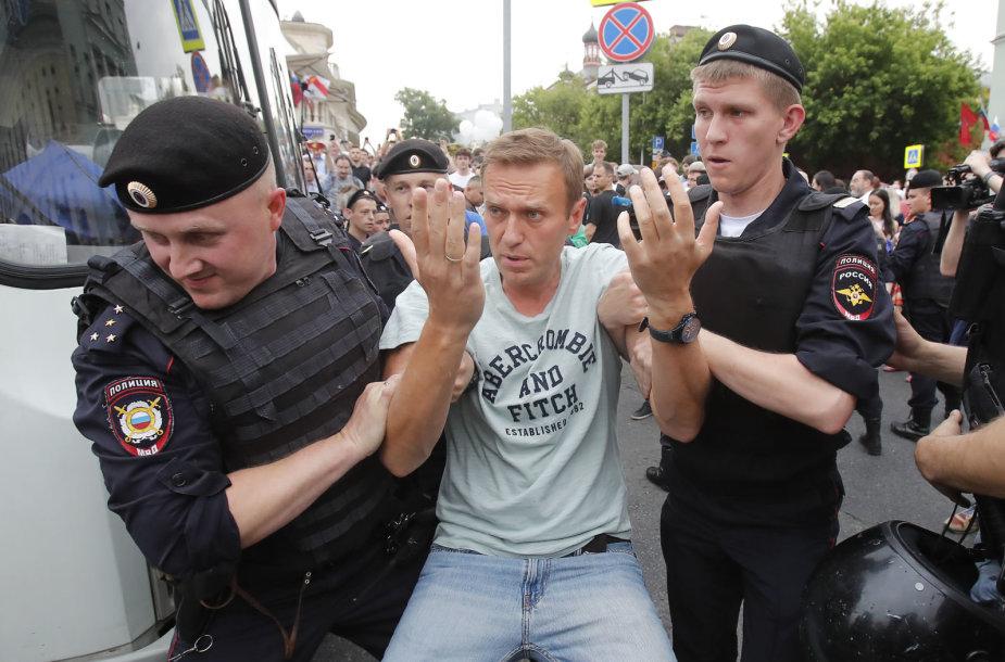 Eitynės Maskvoje prieš teisėsaugos nebaudžiamumą ir korupciją