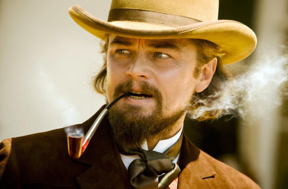 """Aktorius Leonardo DiCaprio filme """"Ištrūkęs Džango"""""""