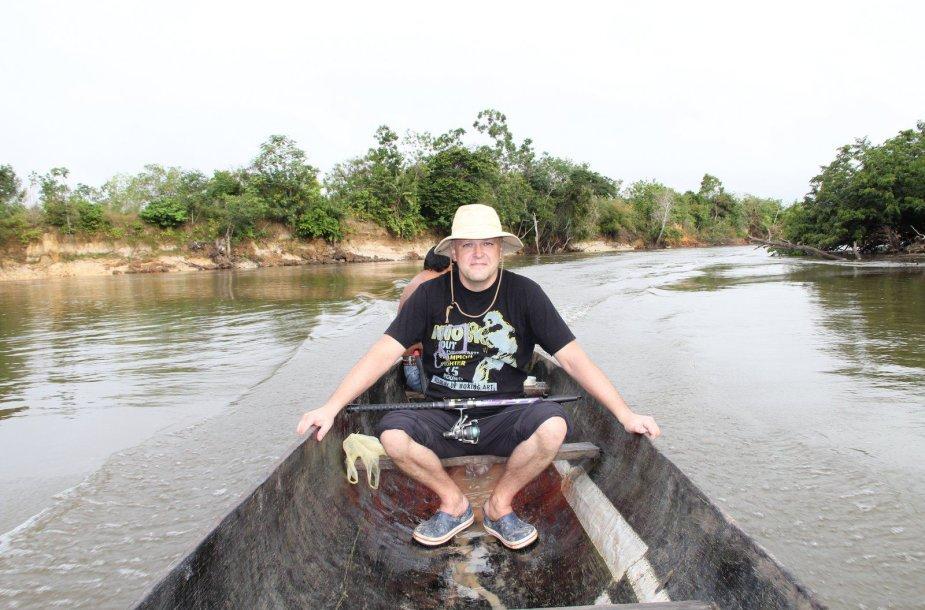 Į žvejybą Amazonės džiunglėse