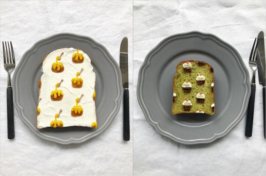 Eiko Mori dekoruoti sumuštiniai