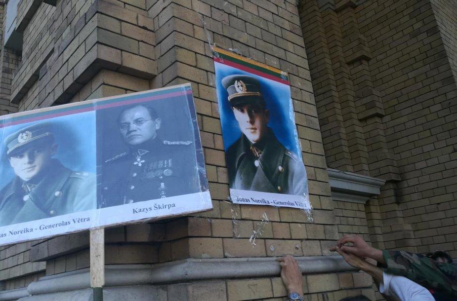 Generolui Vėtrai pakabintas naujas plakatas