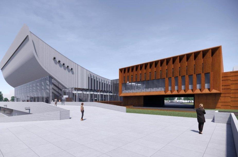 Koncertų ir sporto rūmų aplinkos tvarkymo darbų projektas