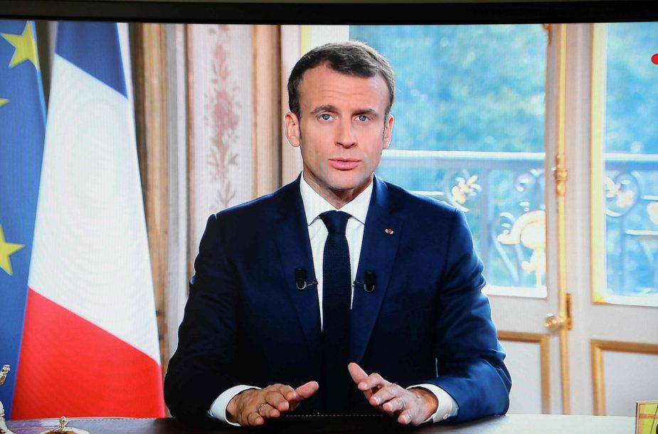 Prancūzijos prezidentas Emmanuelis Macronas